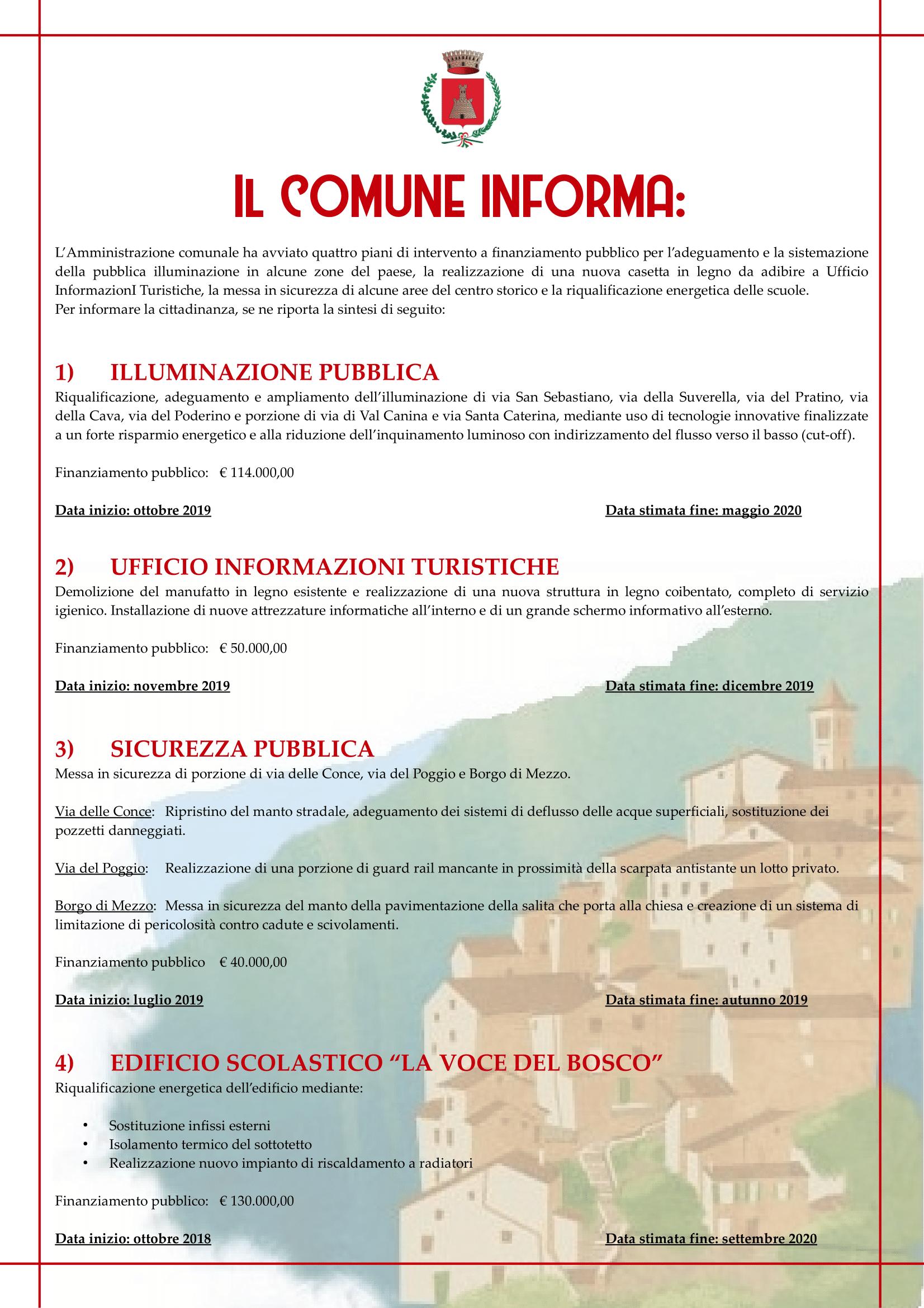 Progetti 2018/2020